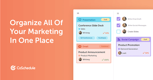 CoSchedule - The Best Content Marketing Editorial Calendar Software - @CoSchedule