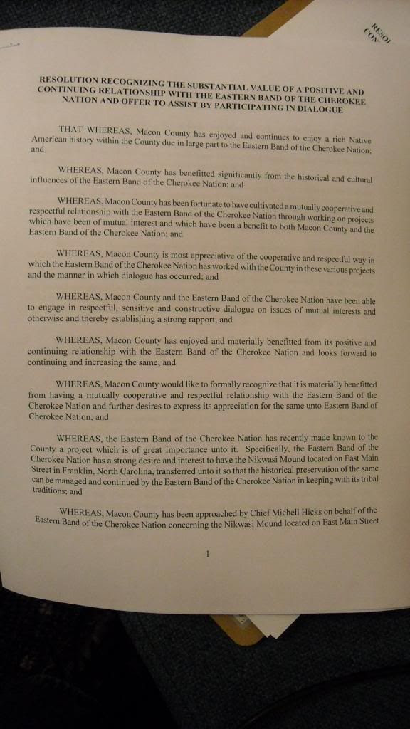 Page One of Proposed Nikwasi Resolution