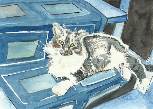 Cats Painted In Watercolor Day 26 September 2016 -