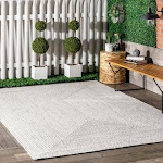 Rugs USA Ivory Jubilee Solid Braided Indoor/Outdoor rug - Casuals Oval 4' x 6' | 200HJFV01E-O406