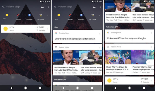 Google is testing a wild new transparent Google Now pane