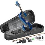 Stagg Eva 44-MBL Silent Viola Set with Case - Metallic Blue