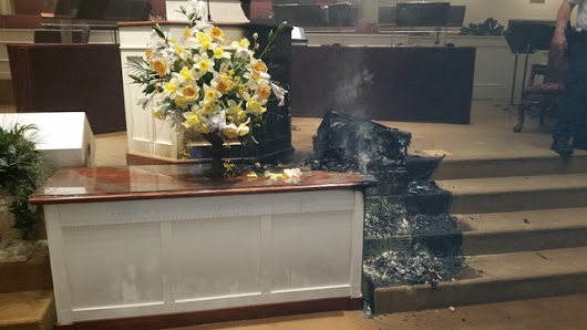 Hawkins County church broken into, set ablaze | WBIR.com