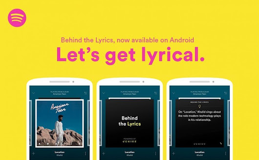 "Spotify y Genius anuncian ""Behind the Lyrics"" para Android"