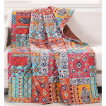 Barefoot Bungalow Indie Throw Quilt Spice