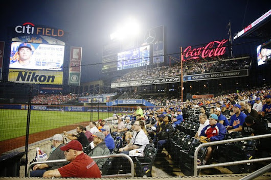 Collins on board with additional protective netting at Citi Field