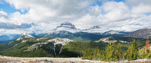 Crowsnest With 7 Sisters by Dwayne Schnell