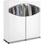 Whitmor Extra-Wide Clothes Closet, White