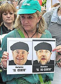 Manifestante en Bilbao. | Patxi Corral