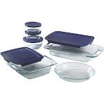 Pyrex Bake n' Store Bakeware, Glass, 11 pc