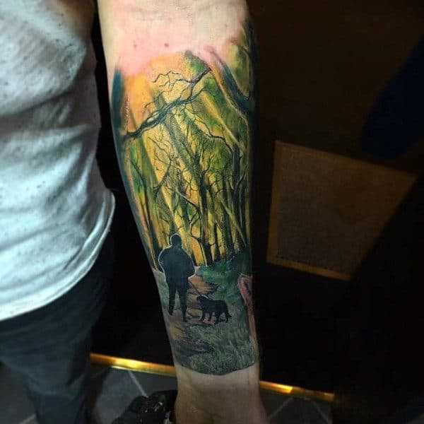 75 Tree Sleeve Tattoo Designs For Men Ink Ideas With Branches