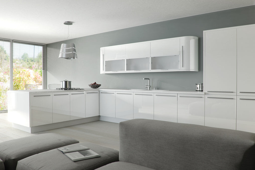 Zurfiz White High Gloss Acrylic Kitchen Doors - Just Click ...