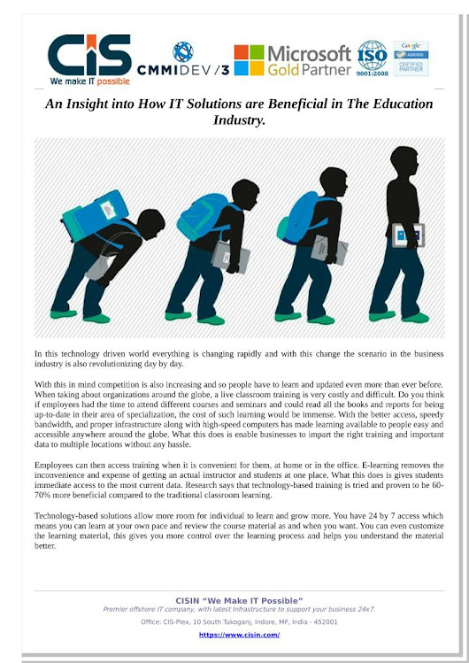 An Insight into How IT Solutions are Beneficial in The Education Industry.