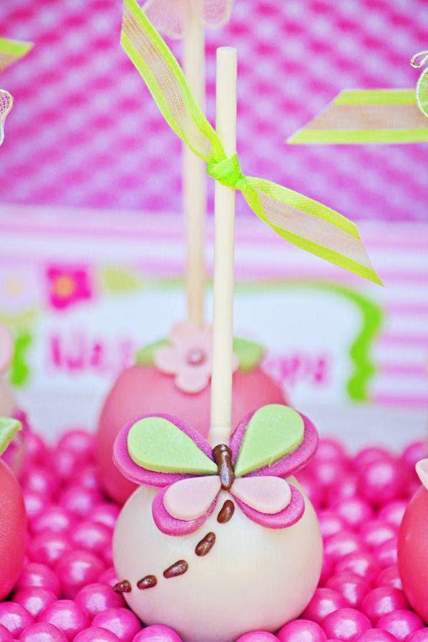 Bright Pink Green Butterfly Party Ideas 2341594 Weddbook