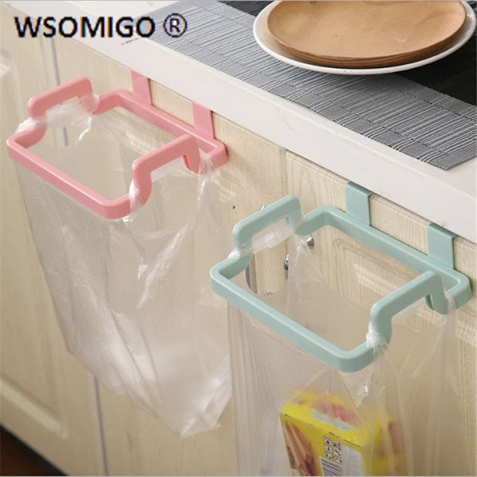 1pcs Caeative Hangable Portable Garbage Bag Holder Kitchen Gadget Bag Holder Accessories