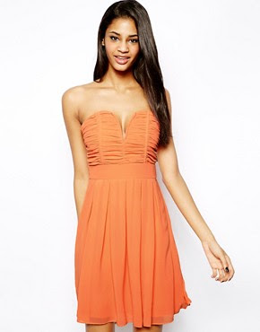 Image 1 ofTFNC Dress With Plunge Bustier