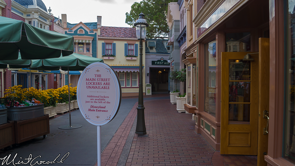 Disneyland Resort, Disneyland, Main Street U.S.A., Lockers, First Aid