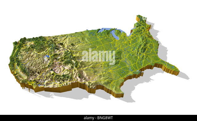 Us Topographic Map 3d