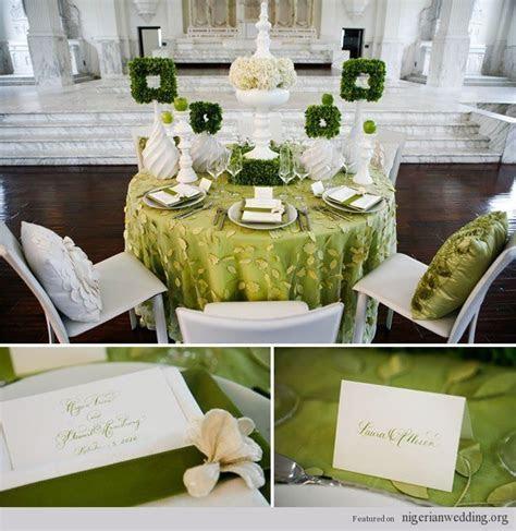 emerald green and gold reception   Nigerian wedding