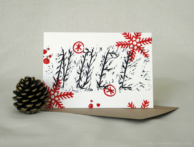 Christmas card: Noel