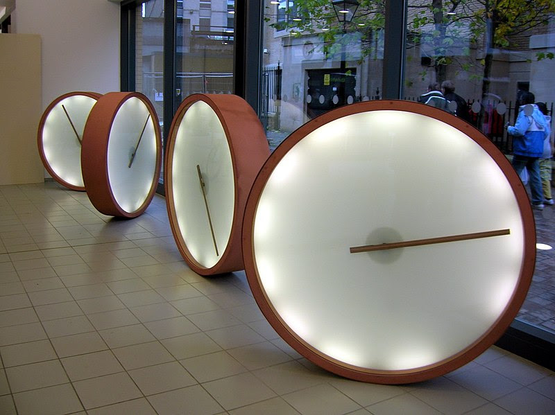 File:Bristol Bus Station  clocks.jpg