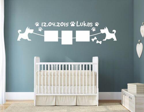 Dekoration Wunschname Bilderrahmen Hunde Babybilder Pkm161 Wandtattoo Foto Kinderzimmer Mobel Wohnen Callvet Com Br