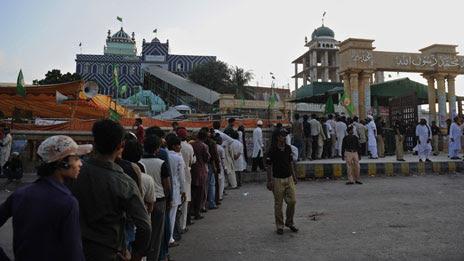 The Shah Ghazi shrine
