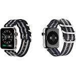 Aduro Nylon Buckle Band for Apple Watch Series 1, 2, 3, & 4 38/40 / Grey Stripe