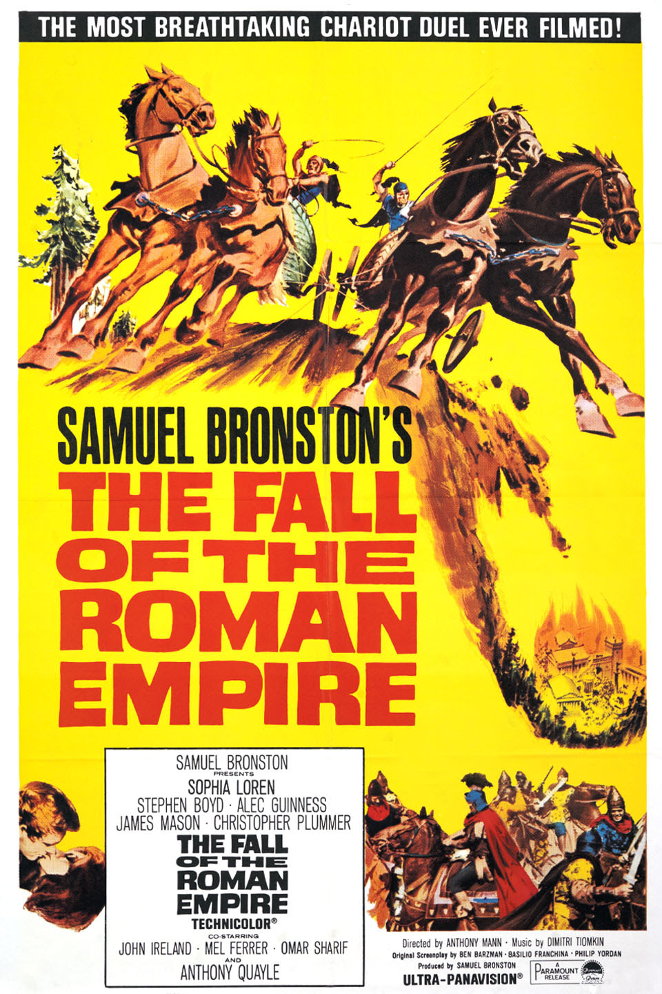 Image result for The Fall of the Roman Empire hollywood