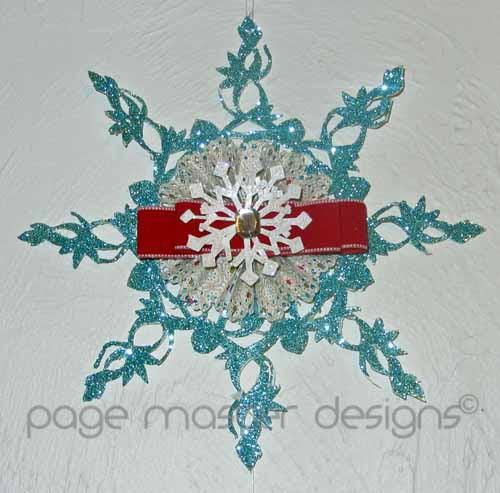 snowflake hanging snowflake