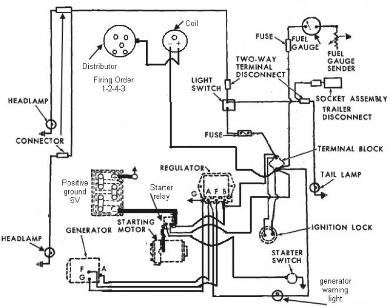 Ford 2600 Tractor Wiring Diagram : Zc 2888 Ford 1100