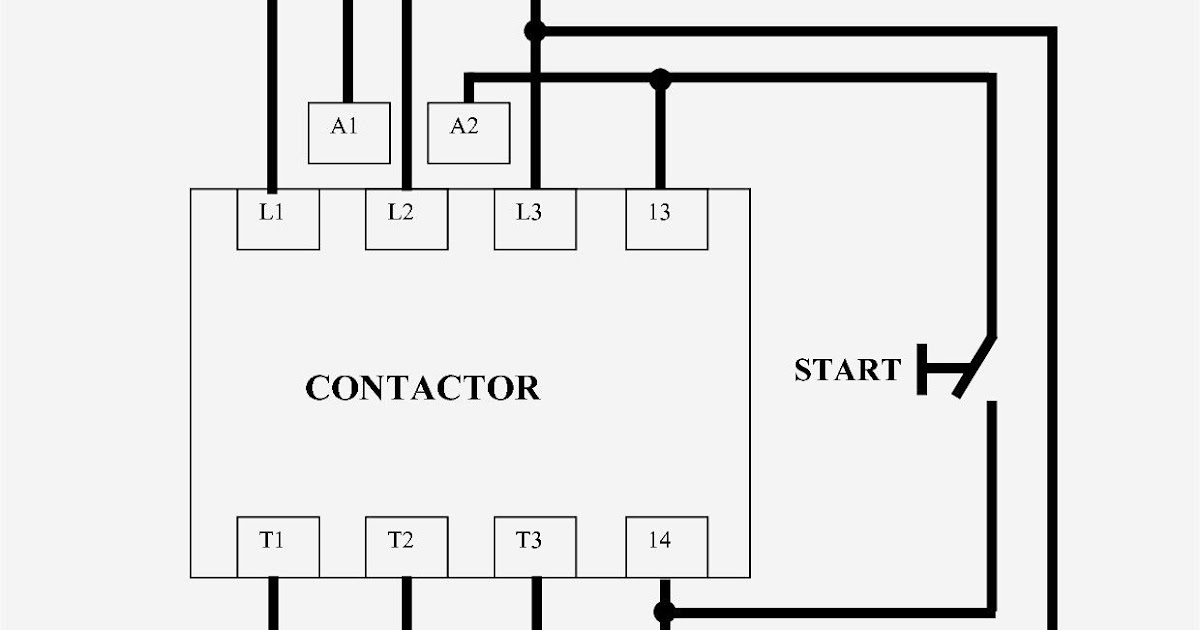Schematic Contactor Wiring Diagram Single Phase