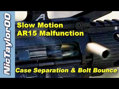 AR15 Bolt Bounce & Case Head Separation Caught on Video