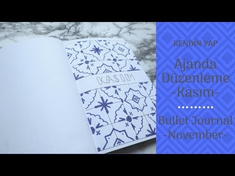 Türkçe Bullet Journal / Kasım
