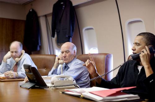Obama desde el Air Force One