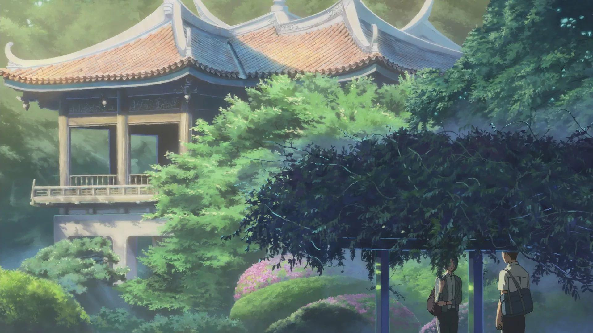 The Garden Of Words Makoto Shinkai Hintergrund 42699935 Fanpop