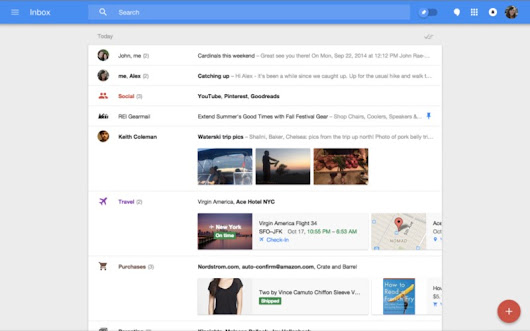 Inbox is the App Child of Gmail and Google Now