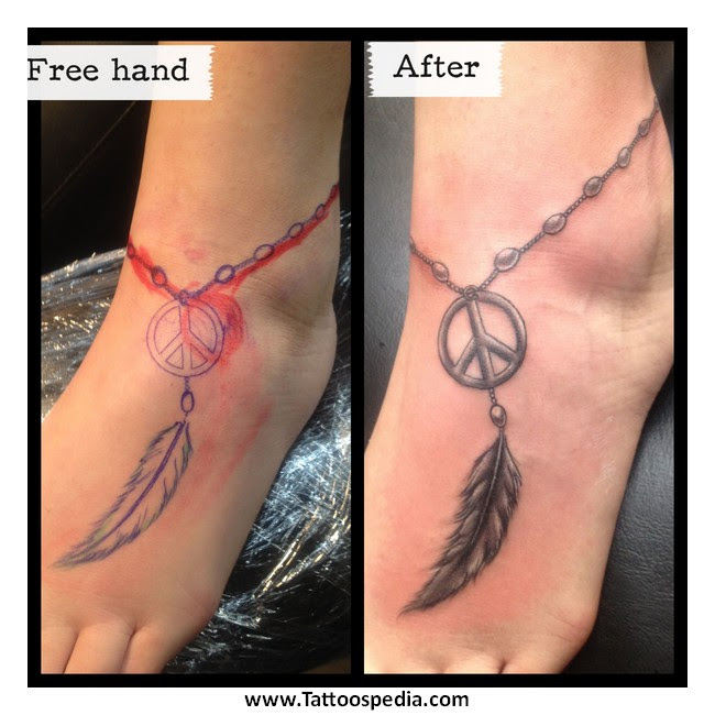 29 Feather Ankle Tattoos