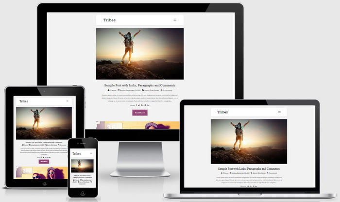Responsive View - Tribes Blogger Template