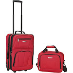 Rockland Rio 2pc Carry On Luggage Set - Red