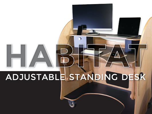 Habitat - The Mobile, Sustainable Sit/Stand Desk by Player 1 Furniture — Kickstarter