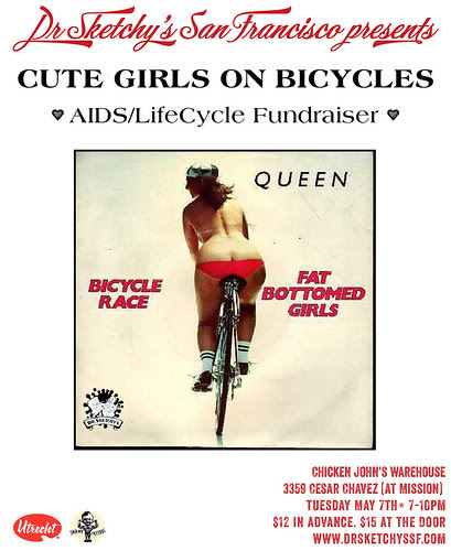 Draw Cute Girls on Bicycles