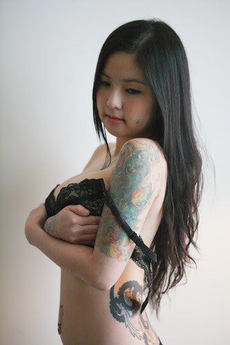 Sexy Asian Girl With Sleeve Tattoo Style