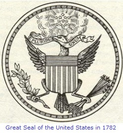 Image result for 1782 Great Seal of the United States.