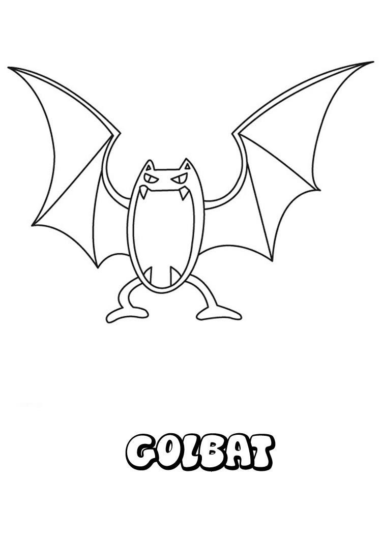 Golbat Pokemon zum Ausmalen