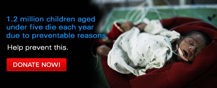1.2 Million children die in india every year... donate now