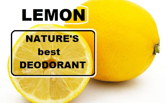 How to use lemon as a deodorant