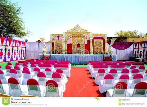 Wedding Reception Stage Decoration Stock Image   Image of