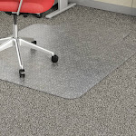 "Lorell Economy Chairmat Low Pile Std. Lip 19""x10"" 36""x48"" Clear 02156"