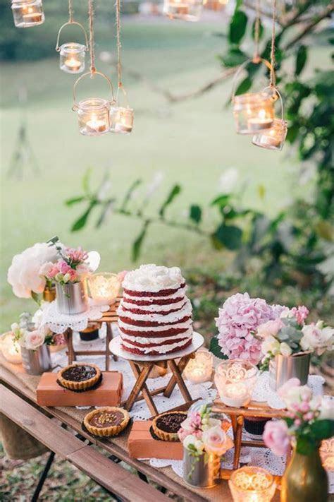 27 Amazing Wedding Cake Display & Dessert Table Ideas
